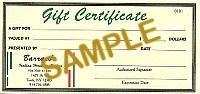 $125 Gift Certificate - Product Image