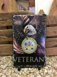 Army Veteran Military Picture Slate - Product Image