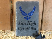 Air Force Military Carved Slate - Product Image