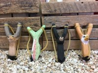 Handmade Wooden Slingshot-Fish - Product Image