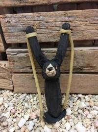 Handmade Wooden Slingshot-Bear - Product Image