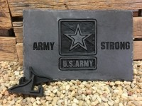 Army Military Carved Slate - Product Image