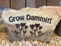 Pre-Carved Grow Dammit Rock - Product Image