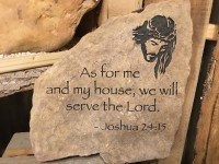 Pre-Carved Joshua Rock with Jesus - Product Image