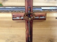 Rusty Stone Wooden Cross - Product Image