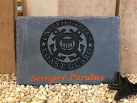 Coast Guard Military Carved Slate - Product Image